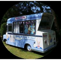 vintage ice cream van in kent - ema