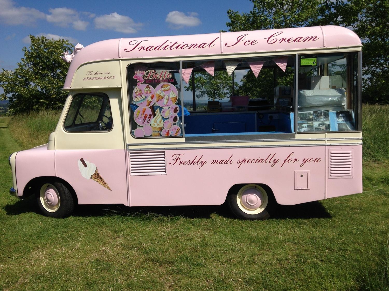 Vintage ice cream van, Kent.