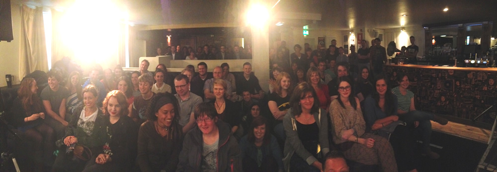 A packed out Voodoo Rooms at the Edinburgh Fringe Festival 2014.