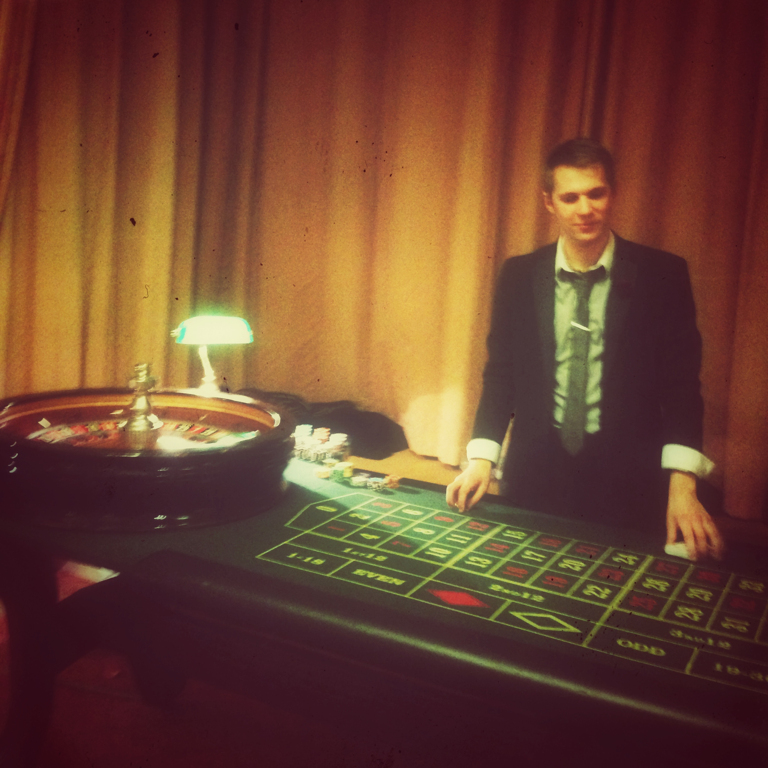 I wouldn't gamble with this croupier