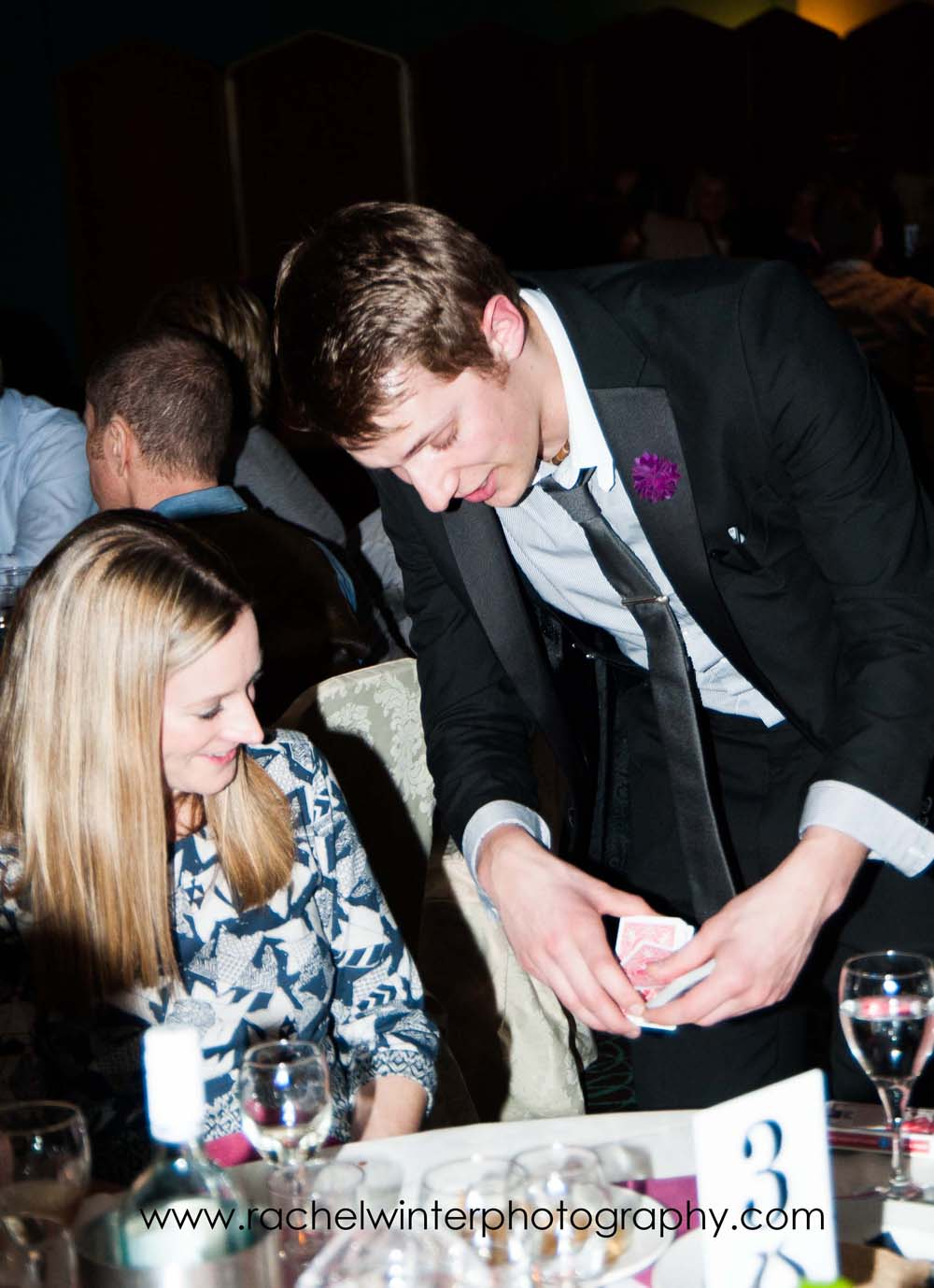 Performing close-up magic at the Castle Green Hotel, Kendal.