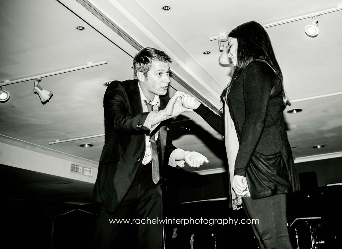 I performed a magic and pick-pocketing act on stage for all the guests