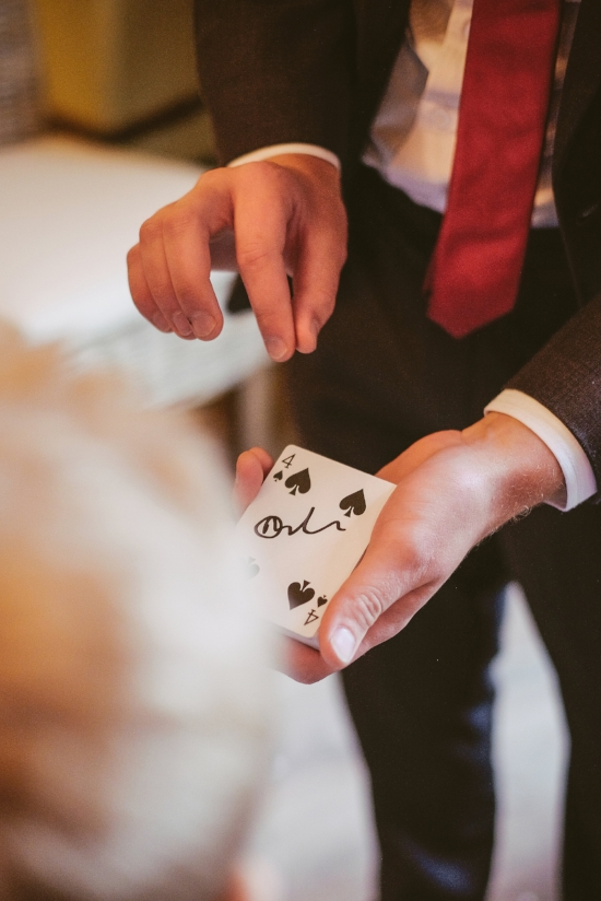 Card tricks at a wedding