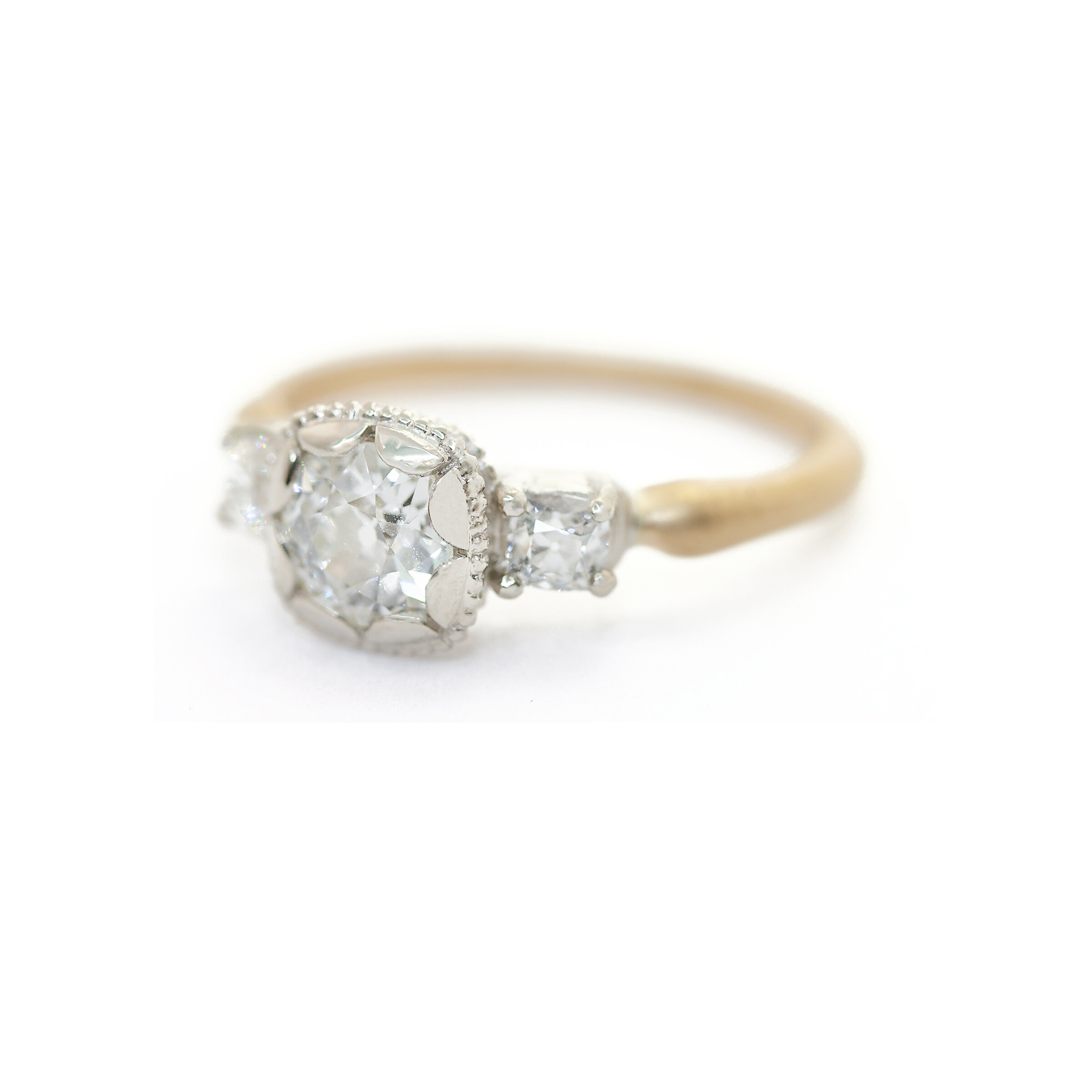 Limited Collection Scalloped Prima 3-Stone Ring
