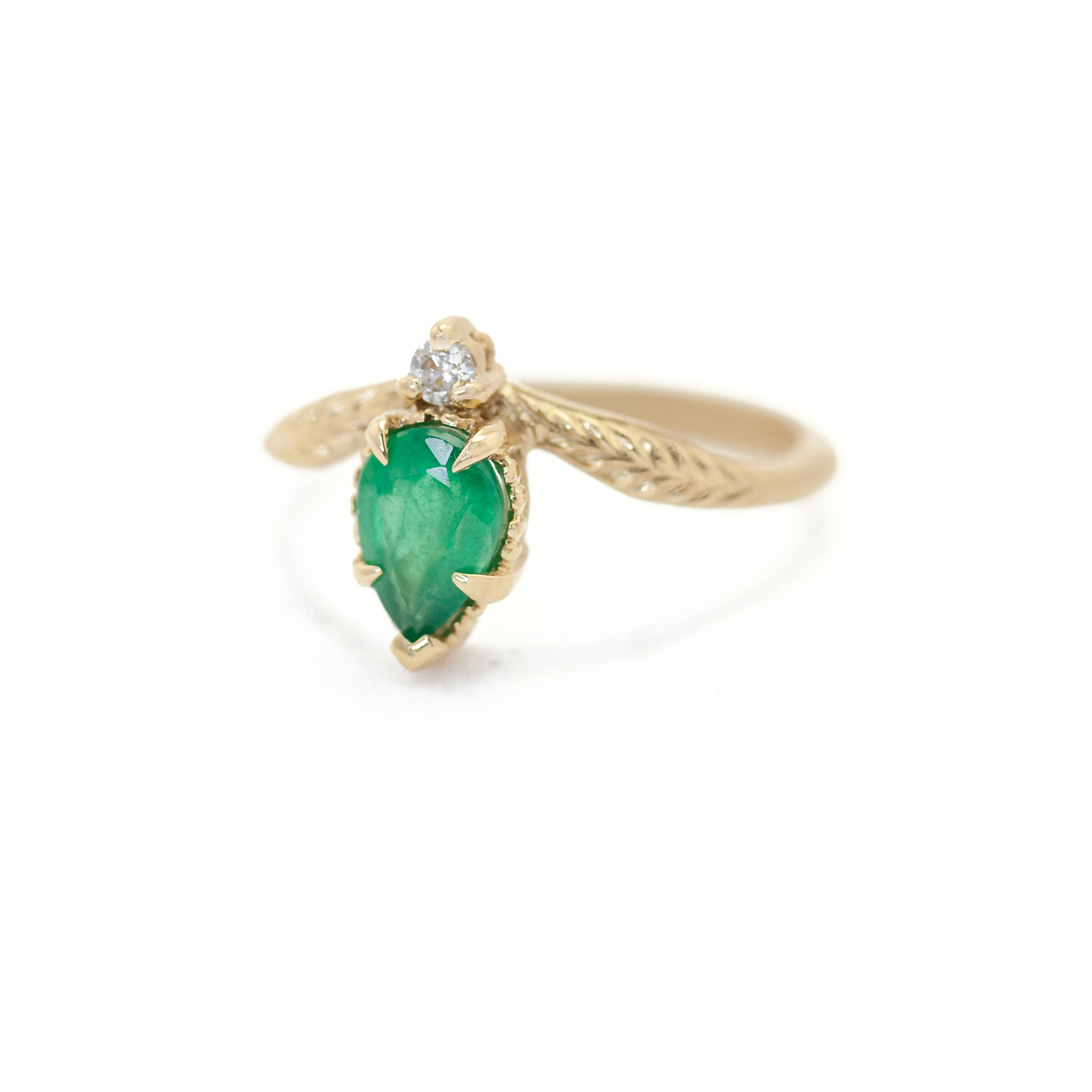 Limited Collection Evergreen Tulip Ring (LC5355)