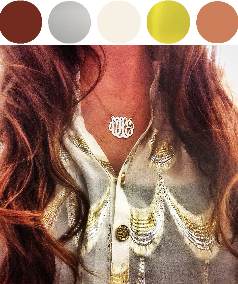 Top:  Lilly Pulitzer Elsa Top  (unavailable- current Elsa collection  here ). - Necklace:  Etsy  ( similar )