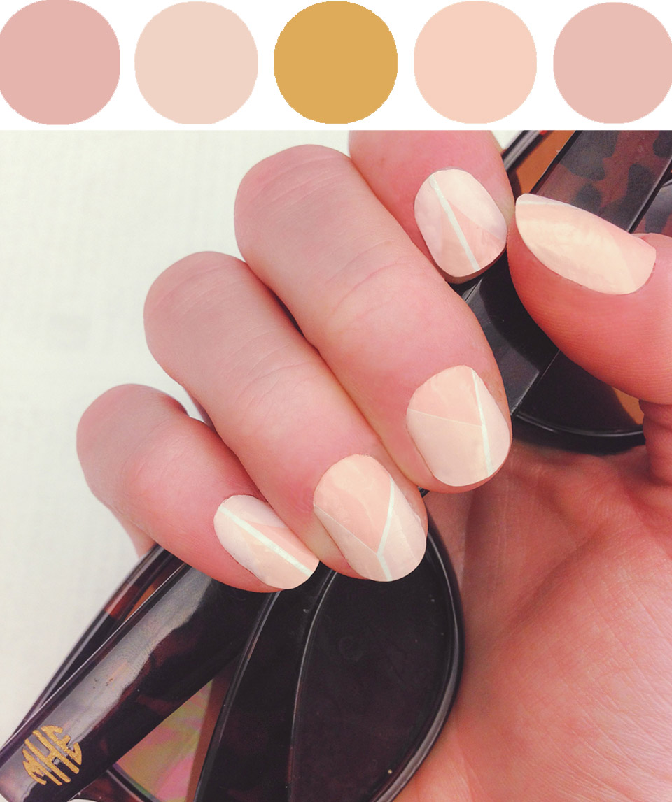 Sunglasses:   Moon and Lola Wayfarer Style Glassesl     - Nails:   Museum Nails Reclining Nude Decals
