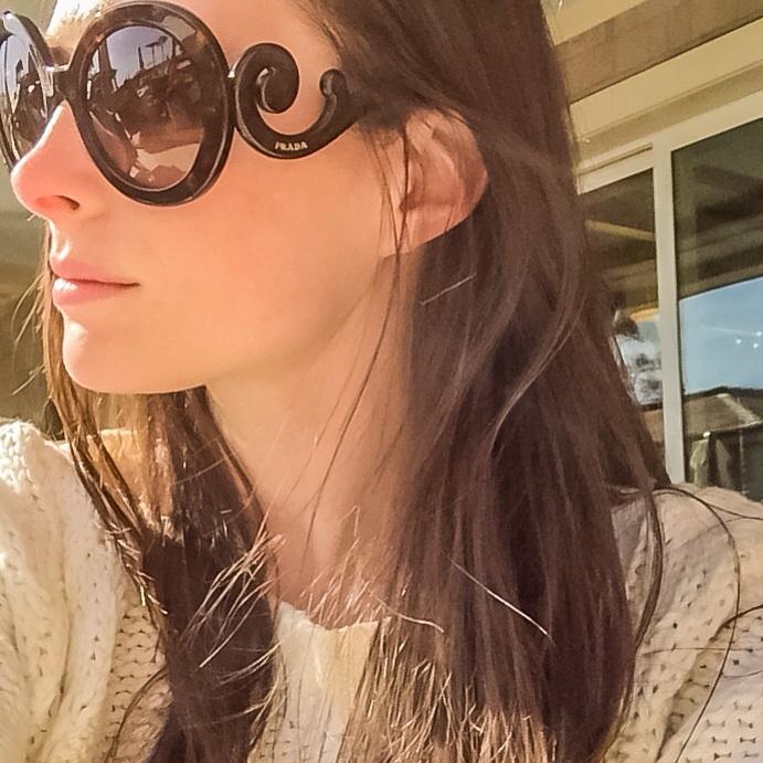 Oversized Baroque Round Sunglasses