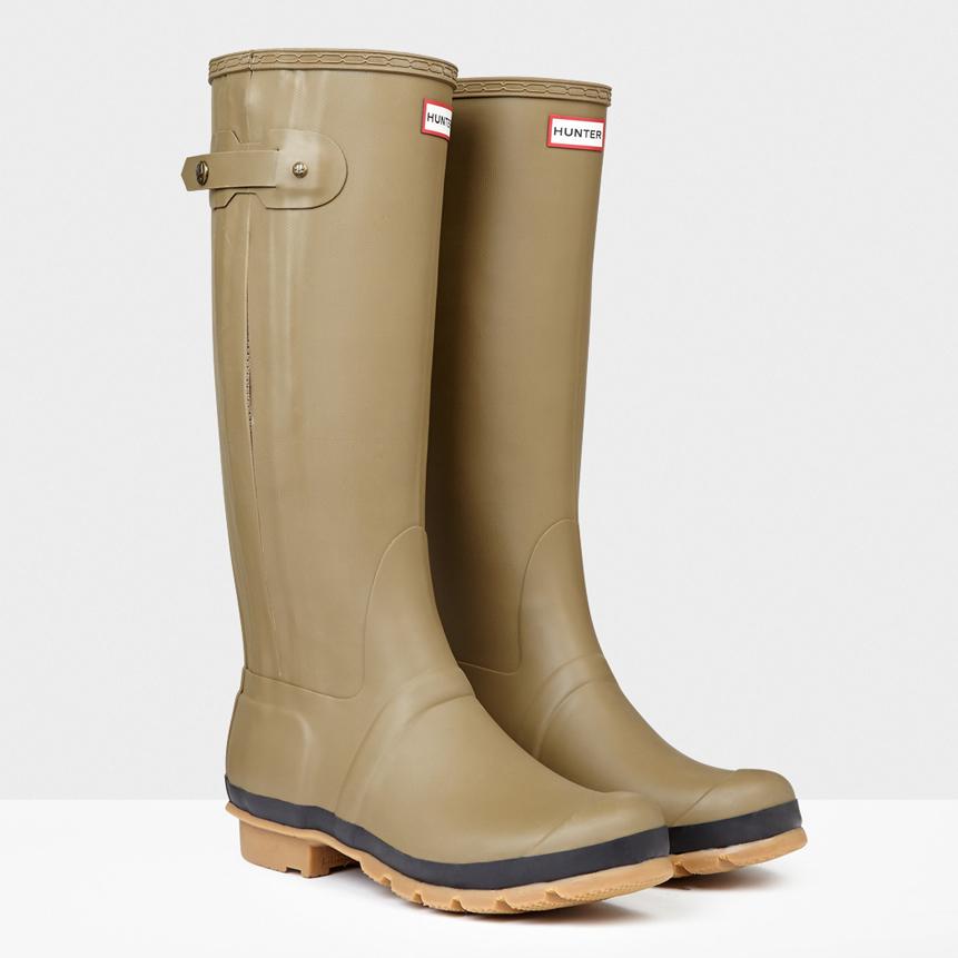 Slim Textured Rain Boots