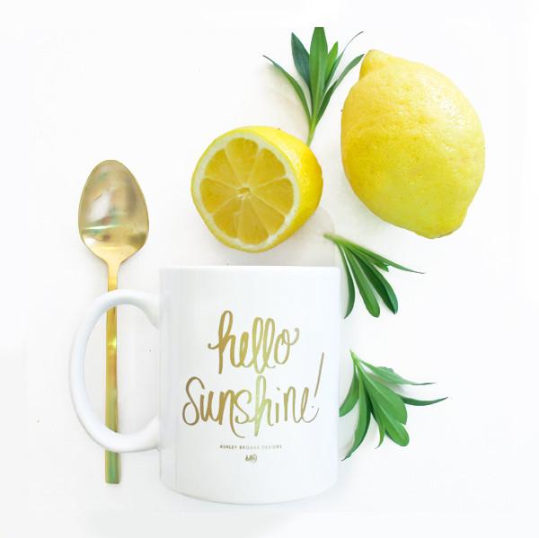 Ashley Brooke Designs | Hello Sunshine Coffee Mug