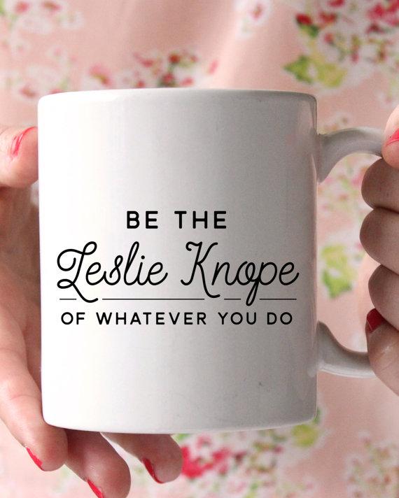 Etsy-CharmAndGumption | Be the Leslie Knope Mug