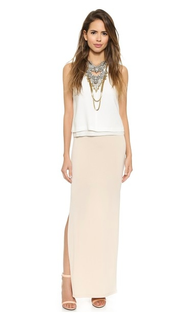 AIR by alice + olivia | Double Slit Maxi Skirt