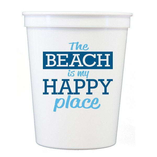 Beach Happy Place Stadium Cups