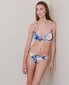 Ralph Lauren Floral Dyed Over the Shoulder Wrap Bikini