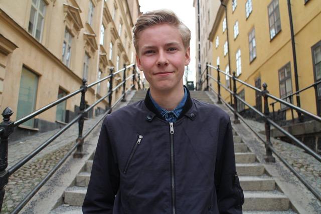 Axel Hallberg, katteelev och språkrör för Grön Ungdom Syd