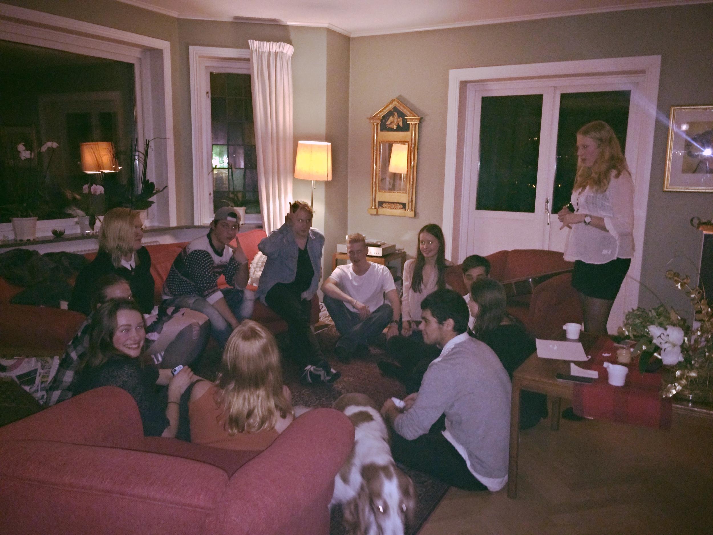 Julmiddagen hos Sarah 2015