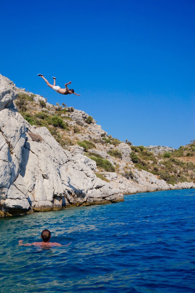 We had a lot of cliff jumping enthusiasts this trip, did you notice?
