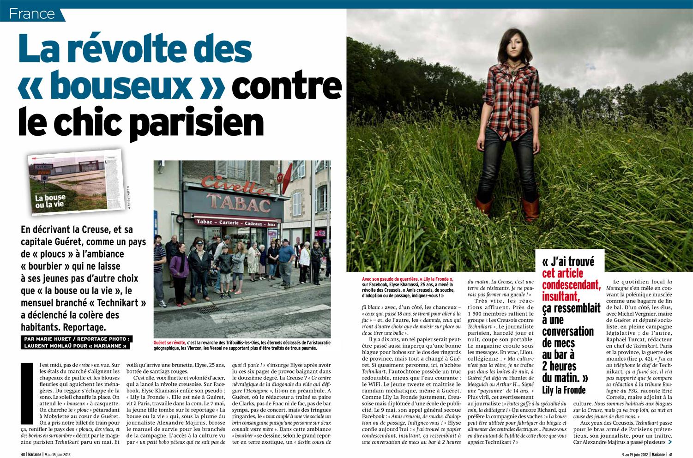 article marianne - juin 2012 - la révolte des bouseux contre le chic parisien-1.jpg