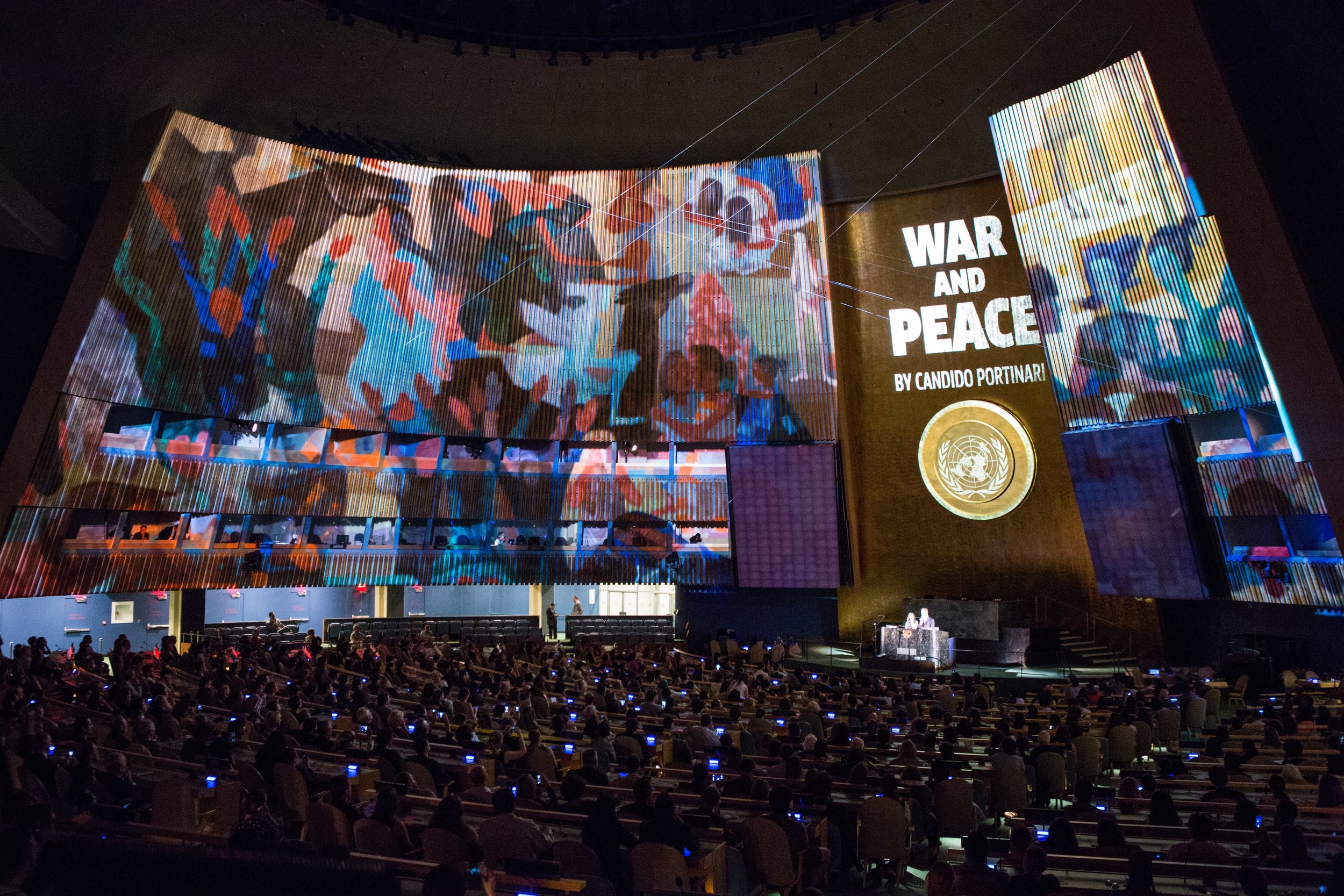 Projection Mapping @ United Nations General Assembly