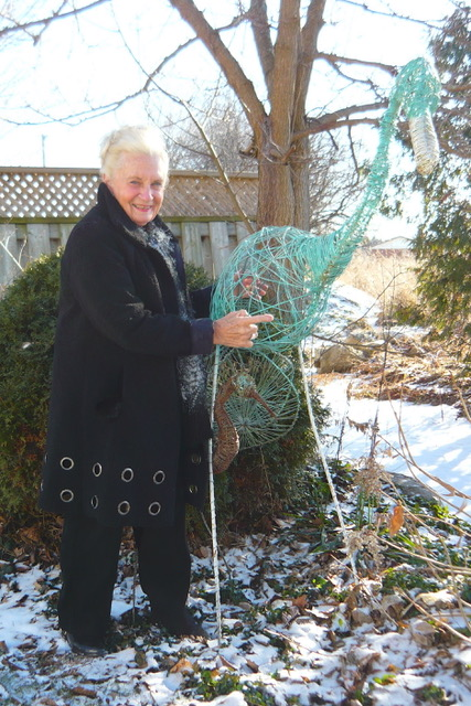 Barb Truax and her Metal Heron