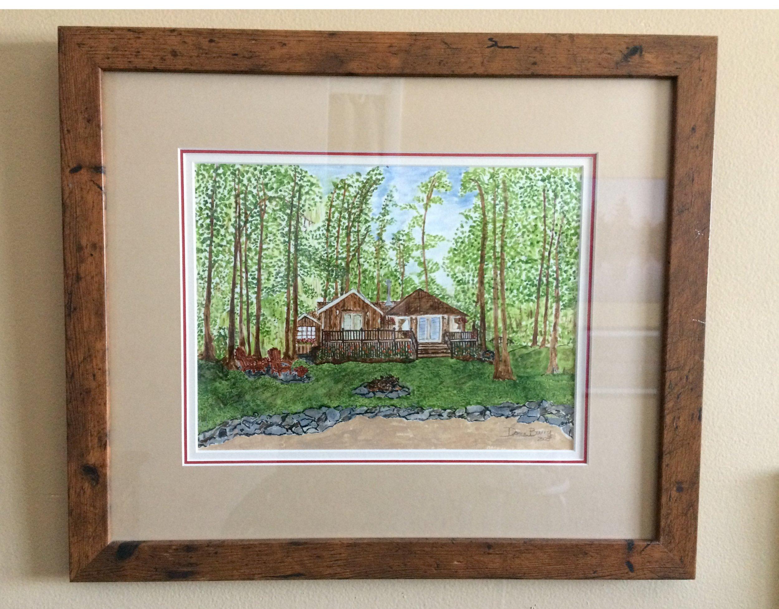 'Tuckaway Cottage on Shadow Lake' in acrylic
