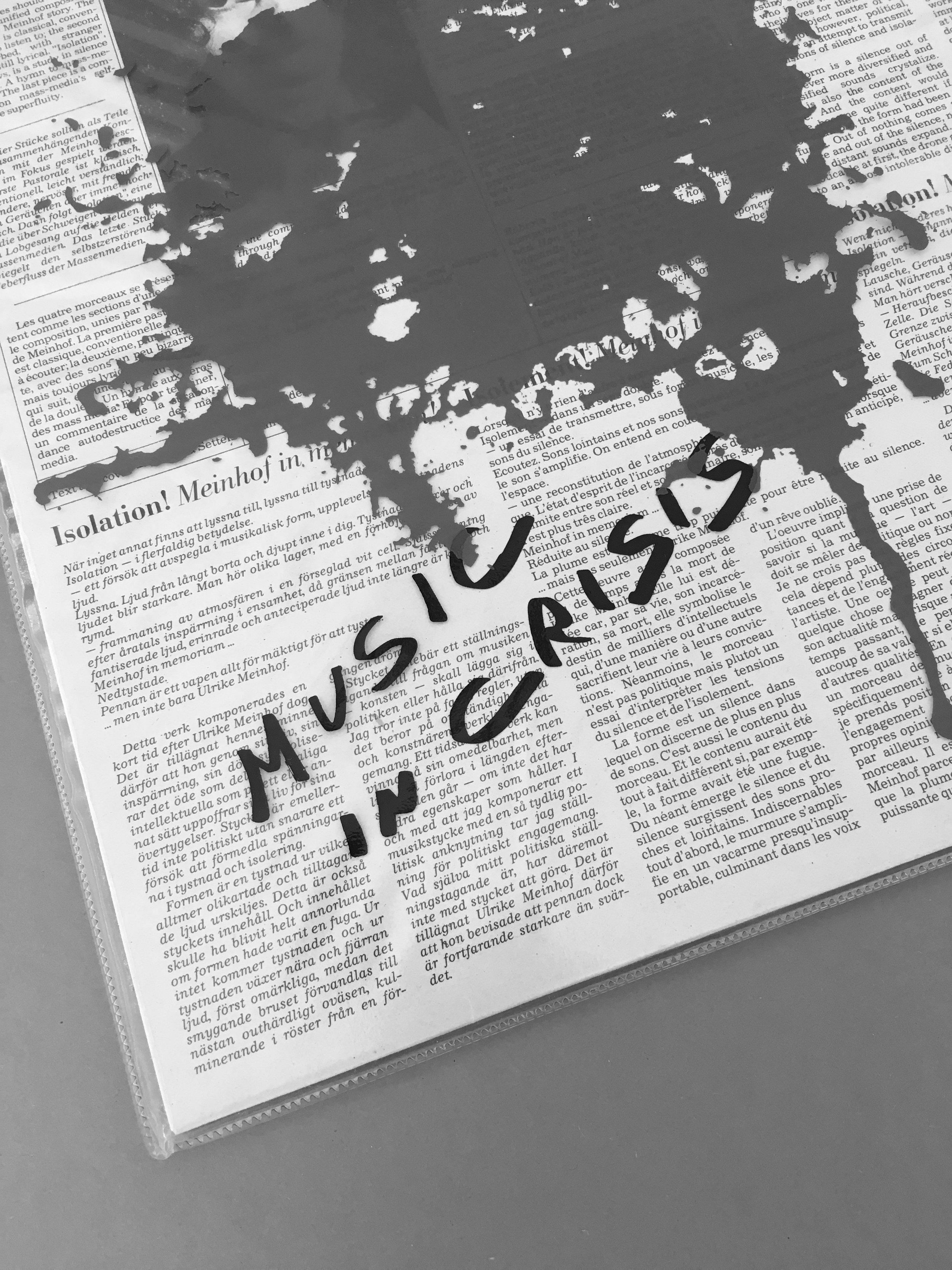 Roberta Settels - Isolation! Meinhof In MemoriamLP_1985Music in Crisis