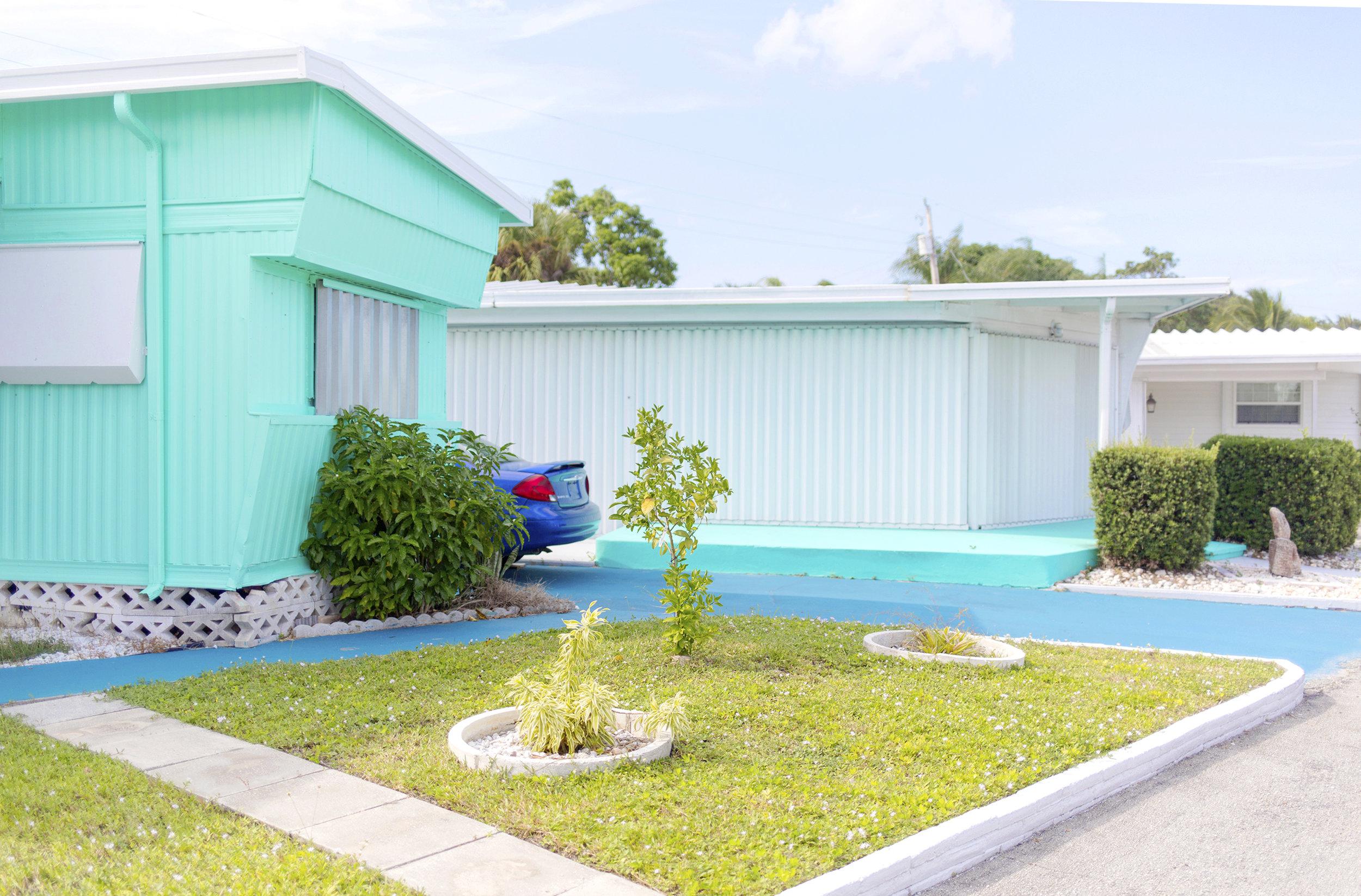Monet Acres Trailer Park. Palm Beach Gardens, Florida.