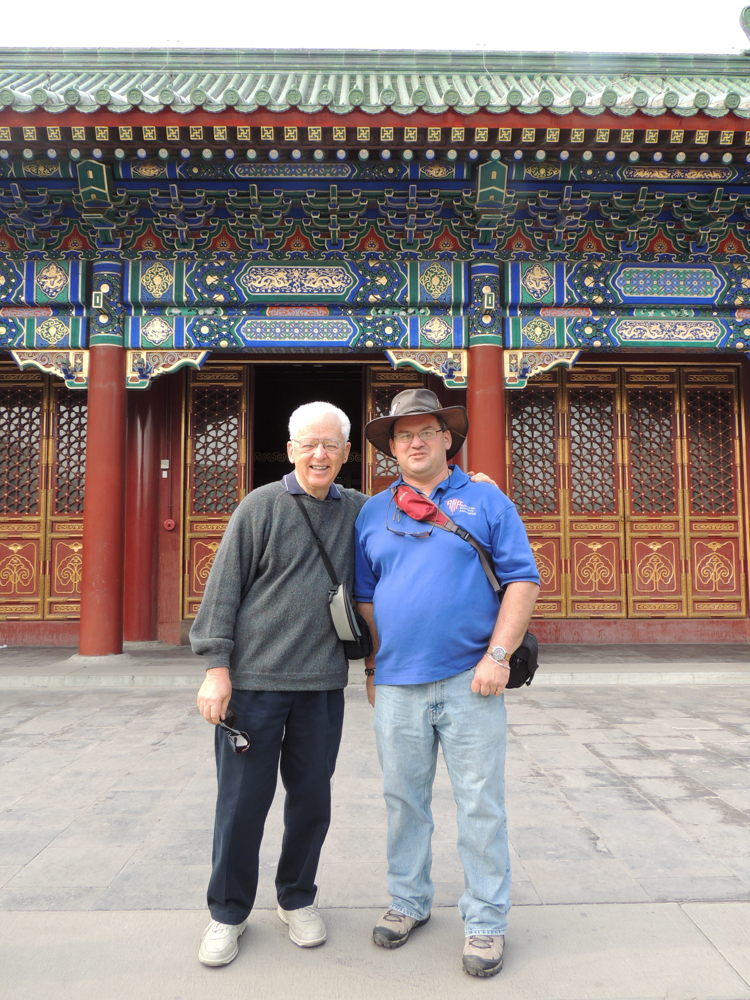 Yosl and Phil Broder during a visit to Chinese kite festivals in 2013.