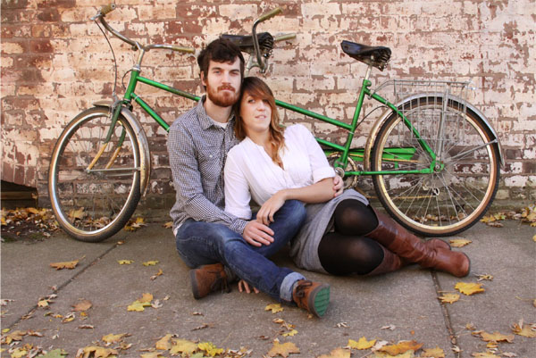 A Tandem for Two: A Lincoln Park Styled Engagement Shoot