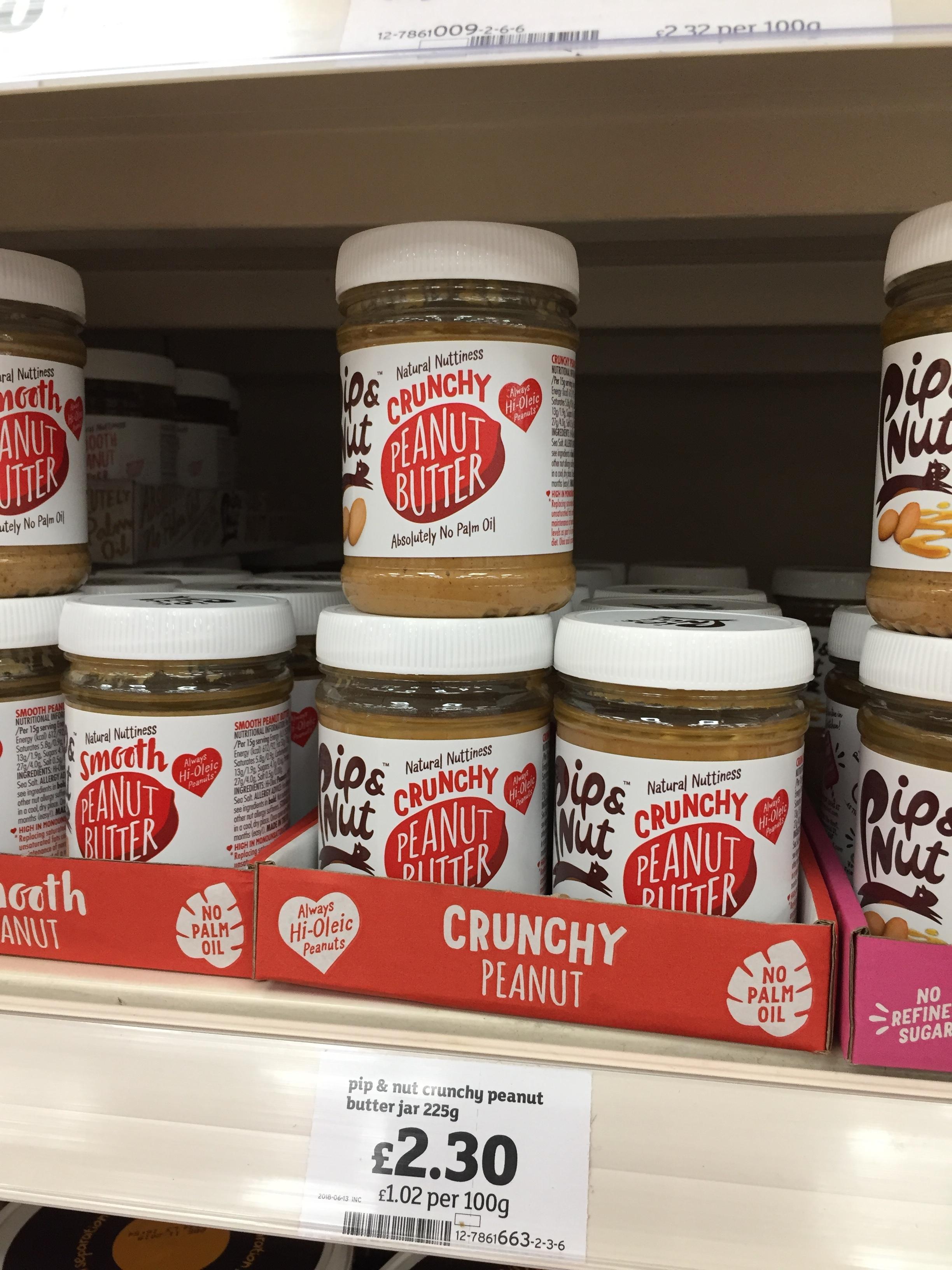 PIp & Nut cruncy peanut butter