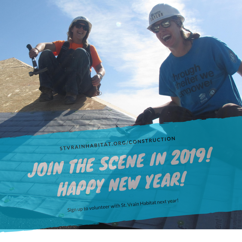 1/2/19 - Join the Scene in 2019!    Come volunteer with us on a construction site   .  No experience necessary. Just a willing heart and hands. We provide the tools and training.  Together we can build a better future!