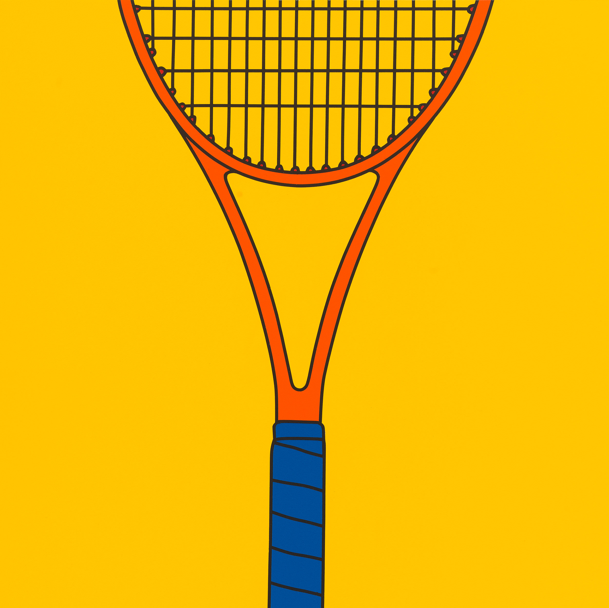 Untitled (tennis racquet fragment yellow), 2017
