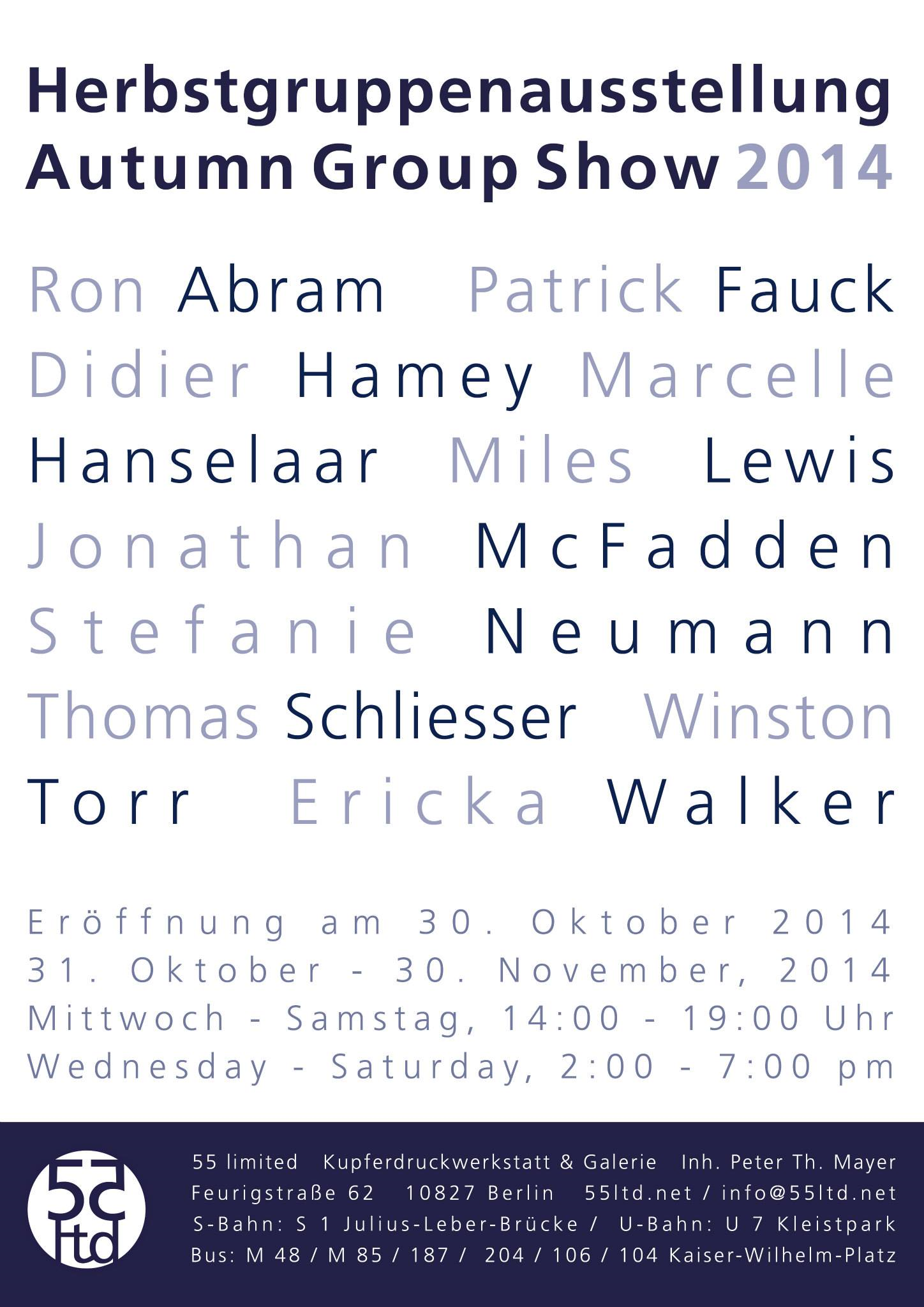 Autumn Group Exhibition in Berlin    http://55ltd.net