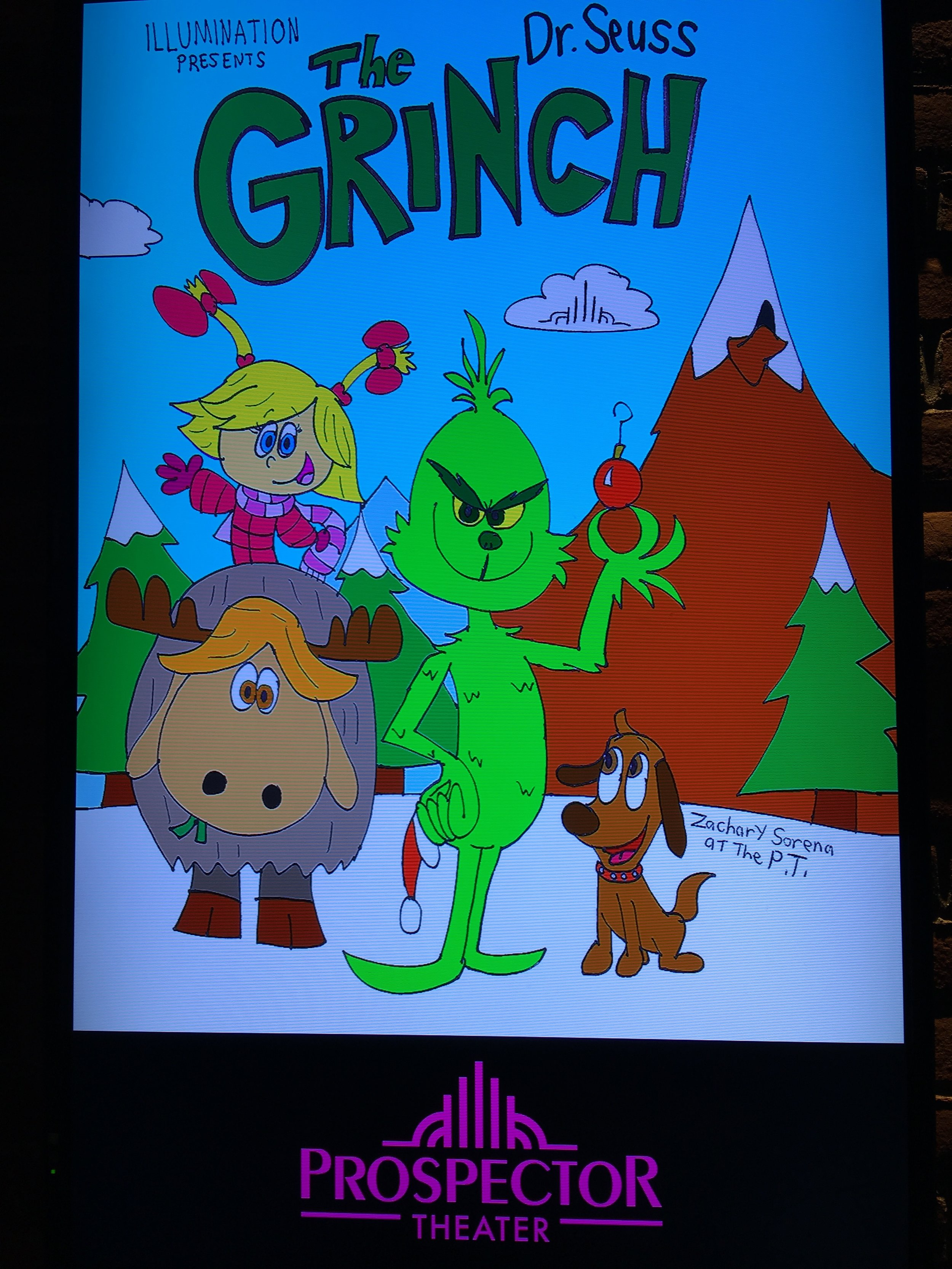 Zach created coloring sheets as well as a digital movie poster!