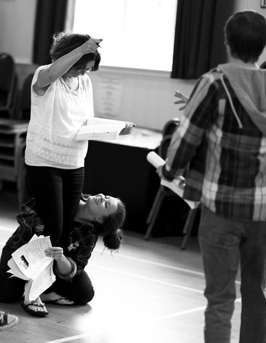 Frankie in rehearsal annoying  Maria Langford   (Photo courtesy of  Front of House Photography )