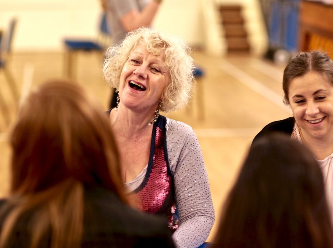 Christine in rehearsal with Ann Tippelt (Photo courtesy of  FRONT OF HOUSE PHOTOGRAPHY )