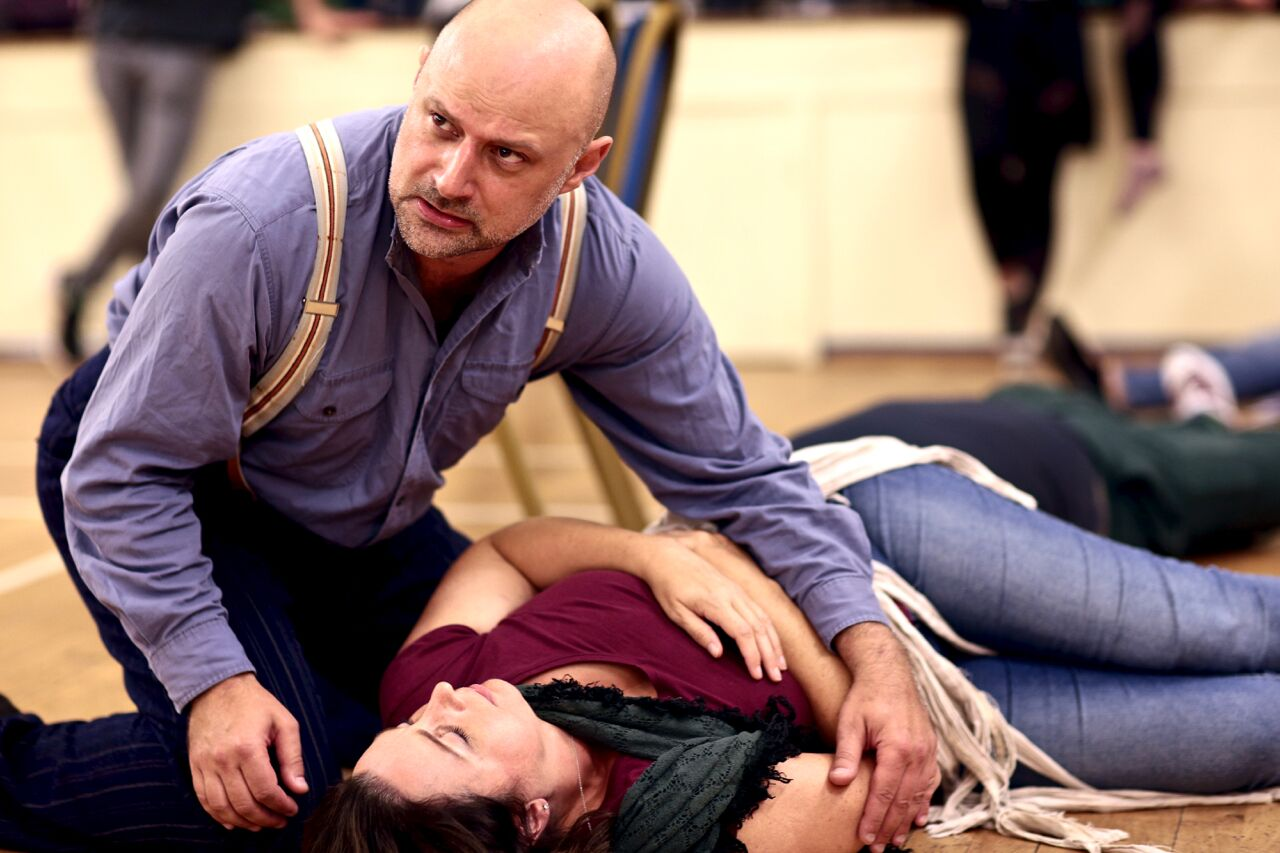 Darren in rehearsal with Maria Langford (PHOTO COURTESY OF  FRONT OF HOUSE PHOTOGRAPHY )