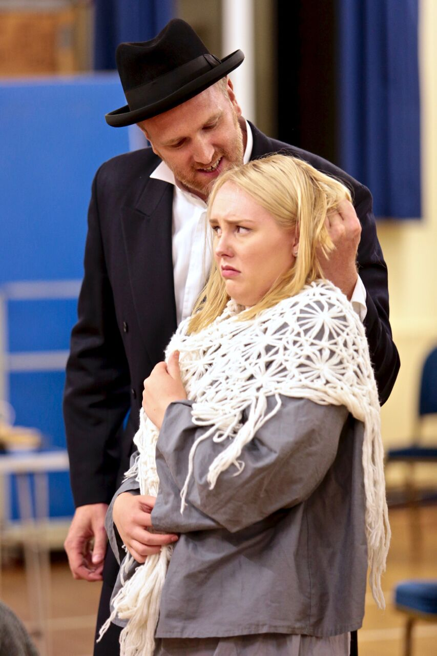 Paul in rehearsal with Emma Hough (PHOTO COURTESY OF  FRONT OF HOUSE PHOTOGRAPHY )