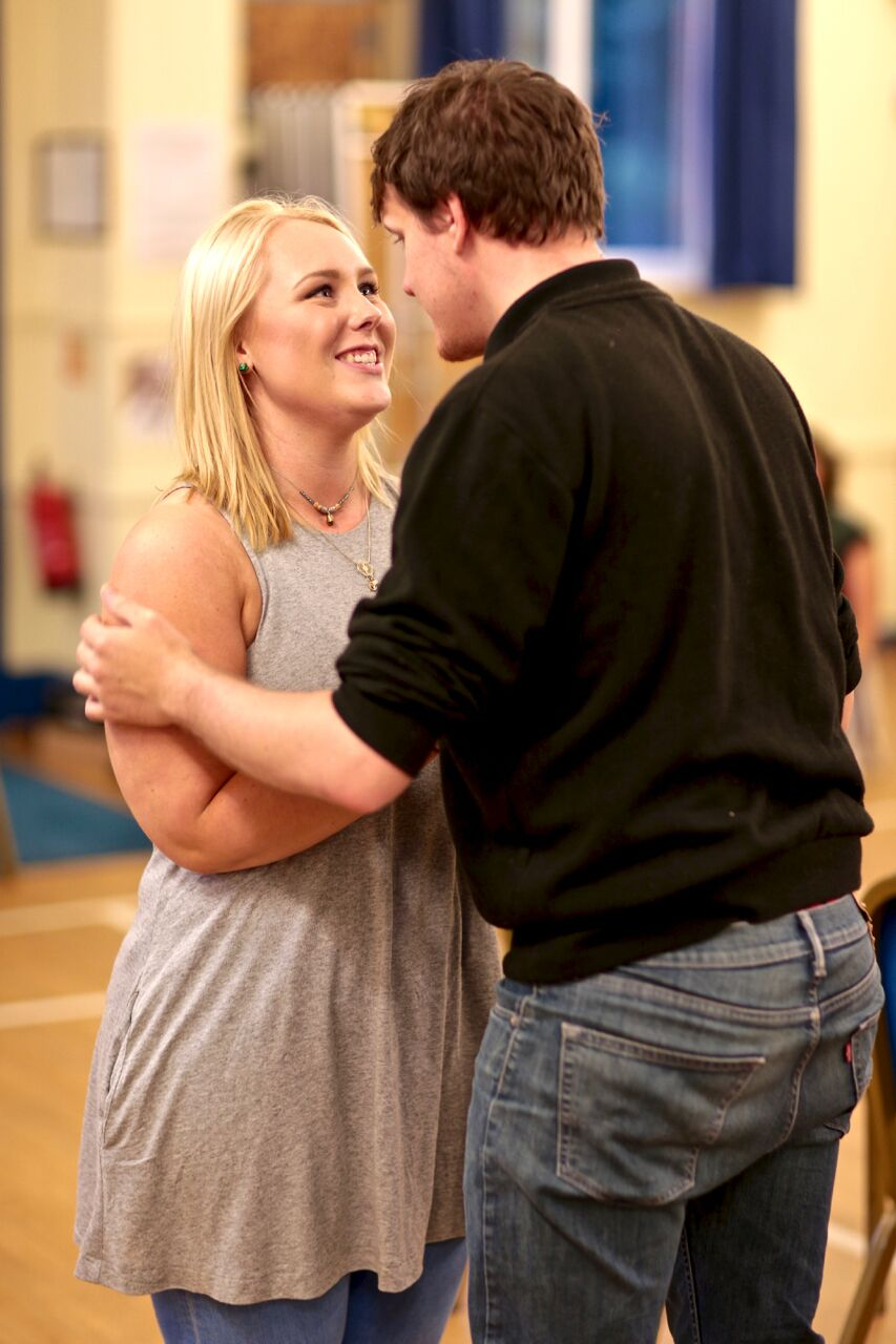 Emma in Rehearsal with Jamie Wilson (PHOTO COURTESY OF  FRONT OF HOUSE PHOTOGRAPHY )