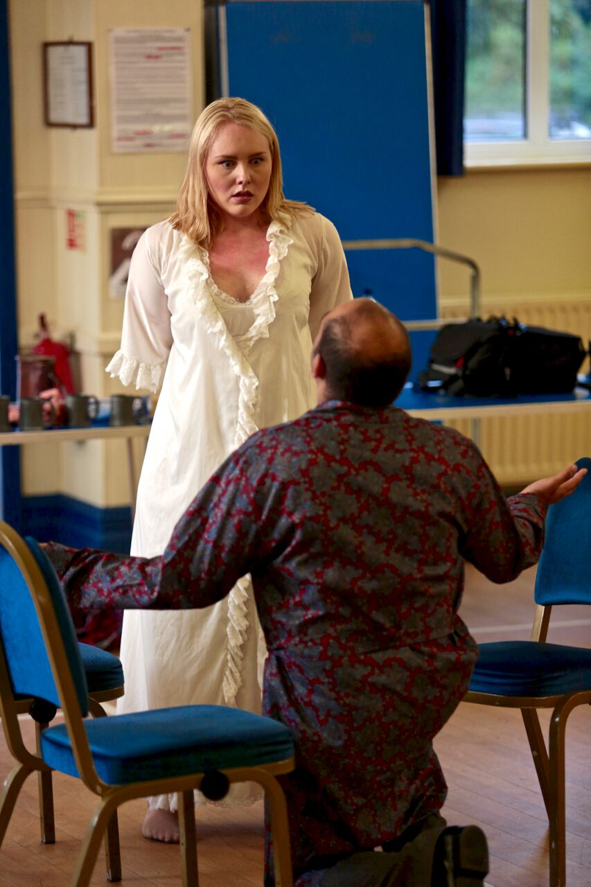 Emma in Rehearsal with Akhil Gowrinath (PHOTO COURTESY OF  FRONT OF HOUSE PHOTOGRAPHY )