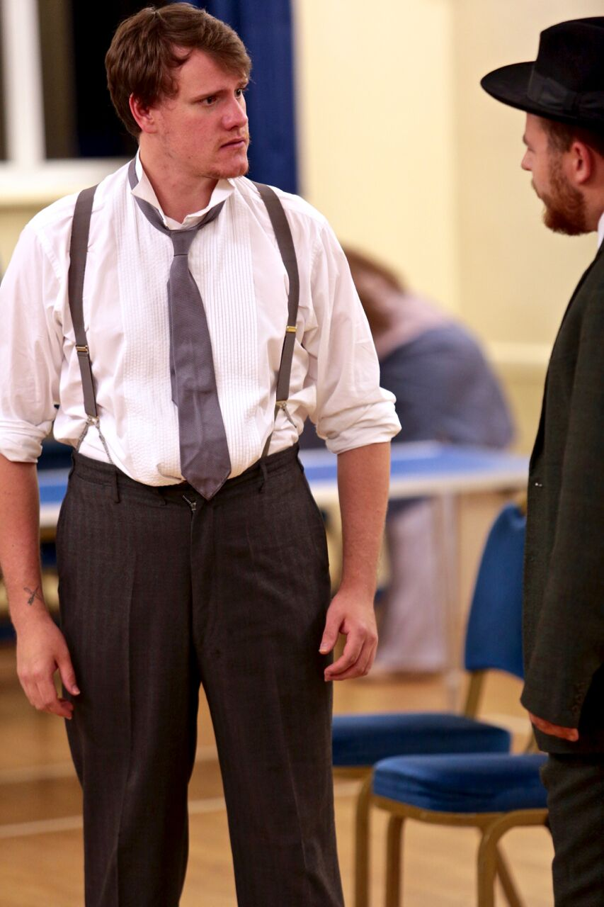 Jamie in rehearsal with Fred Pollard (PHOTO COURTESY OF   FRONT OF HOUSE PHOTOGRAPHY  )