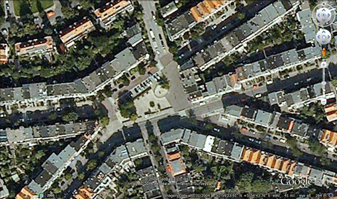 Google Earth image of Graaf Ottoplein, Arnhem