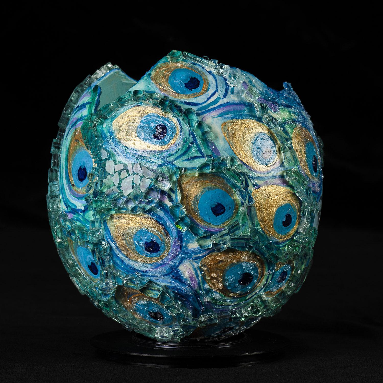 Un-Whole Vision  . Oil Paint, Acrylic &Glass.