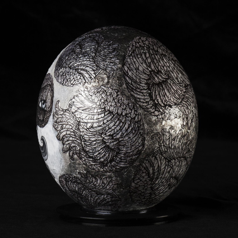 Marko Pollo.  Acrylic Paint, Silver Foil and Glitter