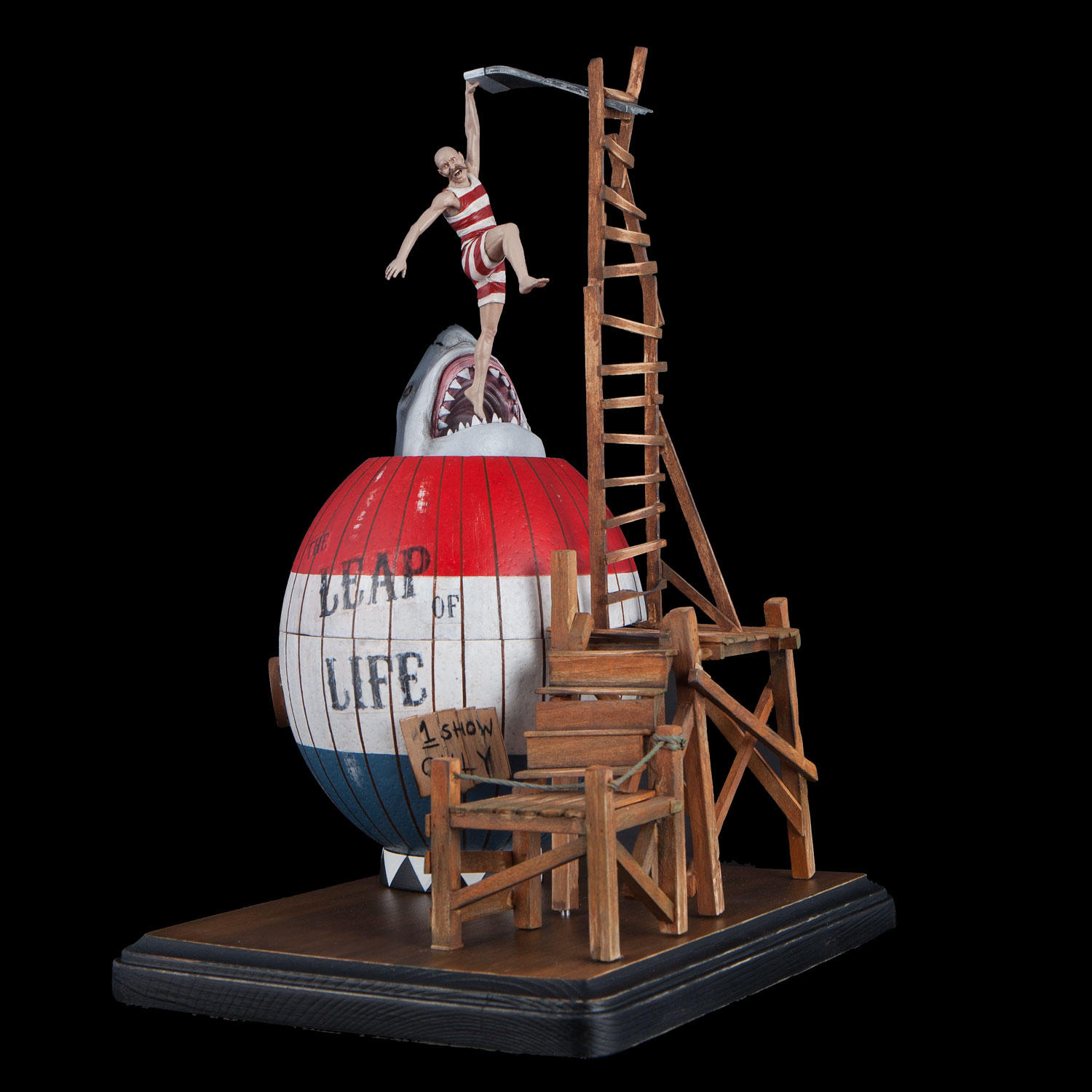 The Leap of Life . Digital Sculpting, 3-D Printing & Acrylic Paint