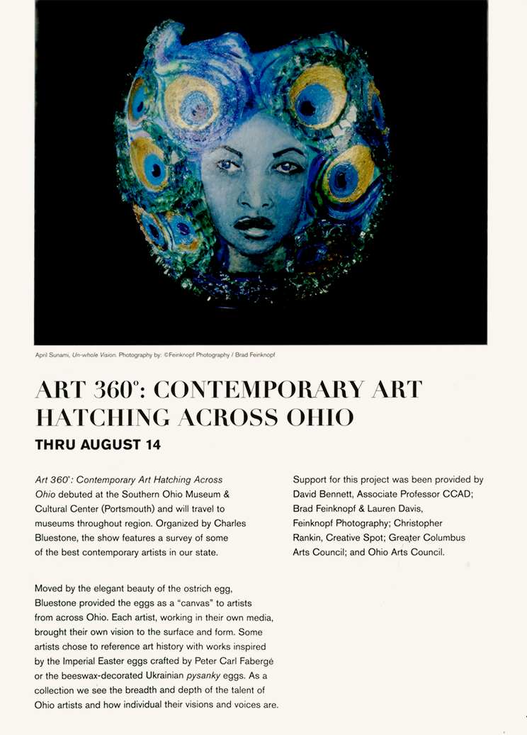 Article in the May & June 2016 issue of the Columbus Museum of Art's magazine
