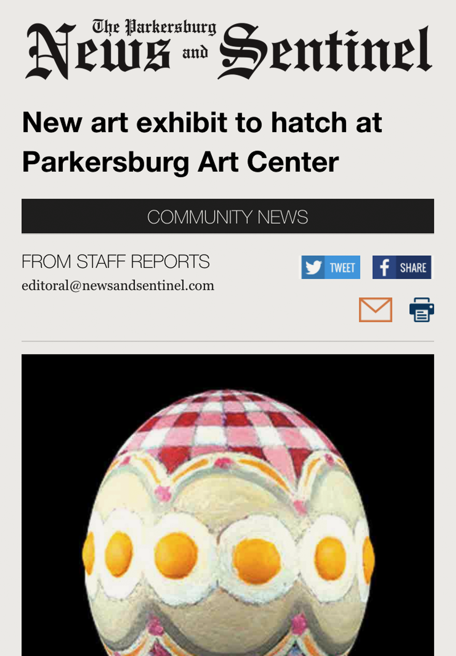 Read the March 9, 2017  Parkersburg News & Sentinel  story