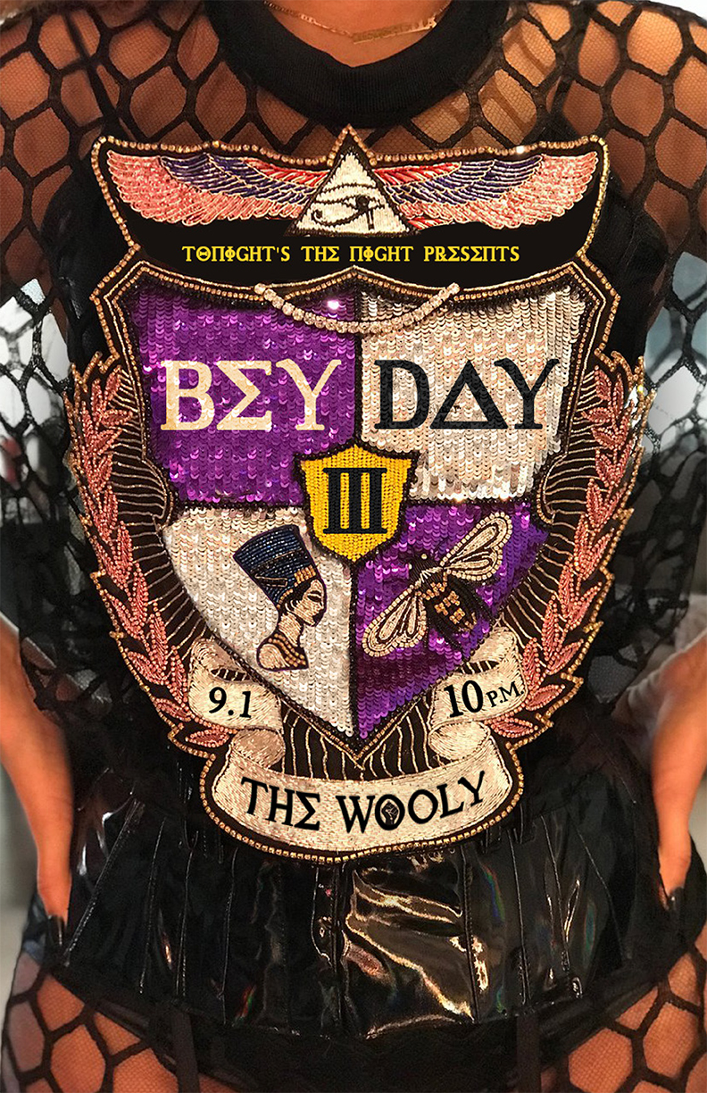 Tonight's The Night GNV Presents: Bey Day III with Brother Eugene spinning all Beyoncé all night long  Ring the alarm! In honor of our queen Bey's 37th birthday, we're bowing down (and gitting down) at the Wooly.  Bey Day kicks off at 10 p.m. sharp with a BE QUEEN BEY lip sync battle. Come dressed in your best Beyfit and sashay fierce across the stage to win some flawless prizes. The crowd picks the winner!  *Email your name to beydayatlantic@gmail.com to enter the contest! Spots in the contest are first come, first serve.*  Grown woman dance party to follow xo  9.1.18 10 p.m. The Wooly, 20 N. Main St. $5 18 and up