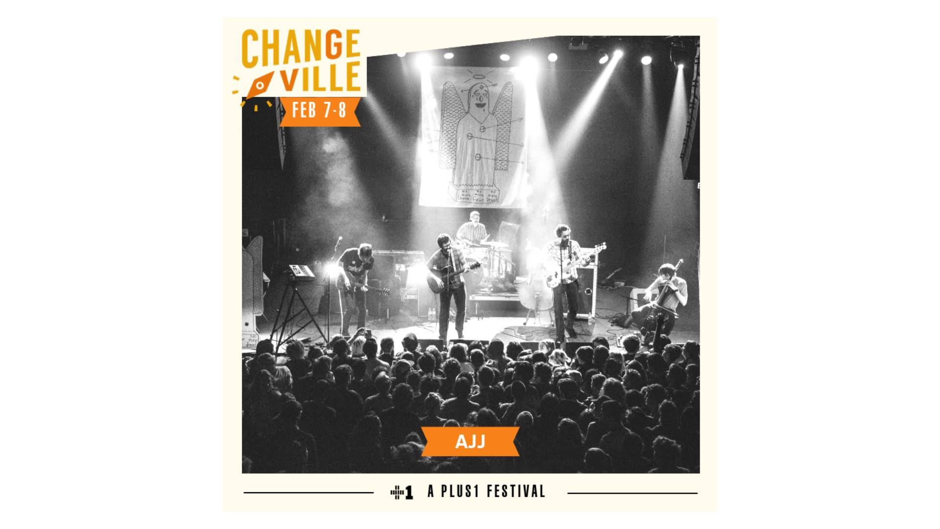 "Featuring  AJJ ! and more!  The Changeville Festival is a downtown music & arts festival featuring local and national artists united by a passion for social change. The two-day festival will take place at venues around the city's downtown such as Bo Diddley Plaza, The Hippodrome, High Dive, Wooly/Atlantic, Civic Media Center, Volta, & more.   Festival passes are available now at  changeville.us/tickets    Hailing from Phoenix, Arizona, *AJJ* has released four full length albums since 2005. Their signature folk-punk sound oftentimes features deceptively upbeat instrumentals accompanying humorously macabre lyrics. It's not unusual for AJJ songs about death, racism, and similar topics to be juxtaposed against a plucky upright bass line. Their Facebook description boasts, ""We're super good, I promise."" In an effort to relinquish any connection to former President Andrew Jackson and to avoid disrespecting Muslims, the former Andrew Jackson Jihad rebranded themselves to AJJ in 2016. ""As the world changed, and as we changed as people, it just got more difficult to give a convincing answer for why our band was called that […] The act of striving to do better is a constant theme in our work, that's where the name [change] was coming from,"" frontman Sean Bonnette told AV Music.  Through a charity partnership with  Plus 1 , $1 from each ticket sale will be donated to two different charity organizations. Local organization Gainesville Girls Rock Camp and national organization CEEAS (Center for Educational Excellence in Alternative Settings) have been chosen as 2019's charities. Changeville will also be collecting canned goods and donations for Peaceful Paths and Grace Marketplace.   Changeville is a two-day social change festival, in partnership with UF College Of Journalism & Communications annual frank conference in downtown Gainesville that brings together students, professionals and artists across a variety of platforms. The festival includes music, comedy, award-winning films, tech, poetry and discussion panels/workshops.   PLUS1 is an initiative that channels the collective energy of a concert to catalyze social change. By partnering with performing artists, PLUS1 raises and grants millions of dollars to high impact nonprofits addressing our most serious global challenges around Access, Equity, and Dignity. The work begins with a $1 per ticket add-on fundraising tool that makes fundraising simple and seamless. Beyond the dollar, PLUS1 supports artists as educators and advocates, fueling their passion, reach, impact. To date, PLUS1 has raised and granted over $7 million, and served as the connective tissue between over 150 artists, millions of their fans, and 100s of leading social justice organizations tackling global injustice.   AJJ   Links:   https://www.ajjtheband.com/   www.changeville.us/tickets    https://www.facebook.com/changevillle/    www.frank.jou.ufl.edu    www.plus1.org    https://twitter.com/Changeville    https://www.instagram.com/changeville/"
