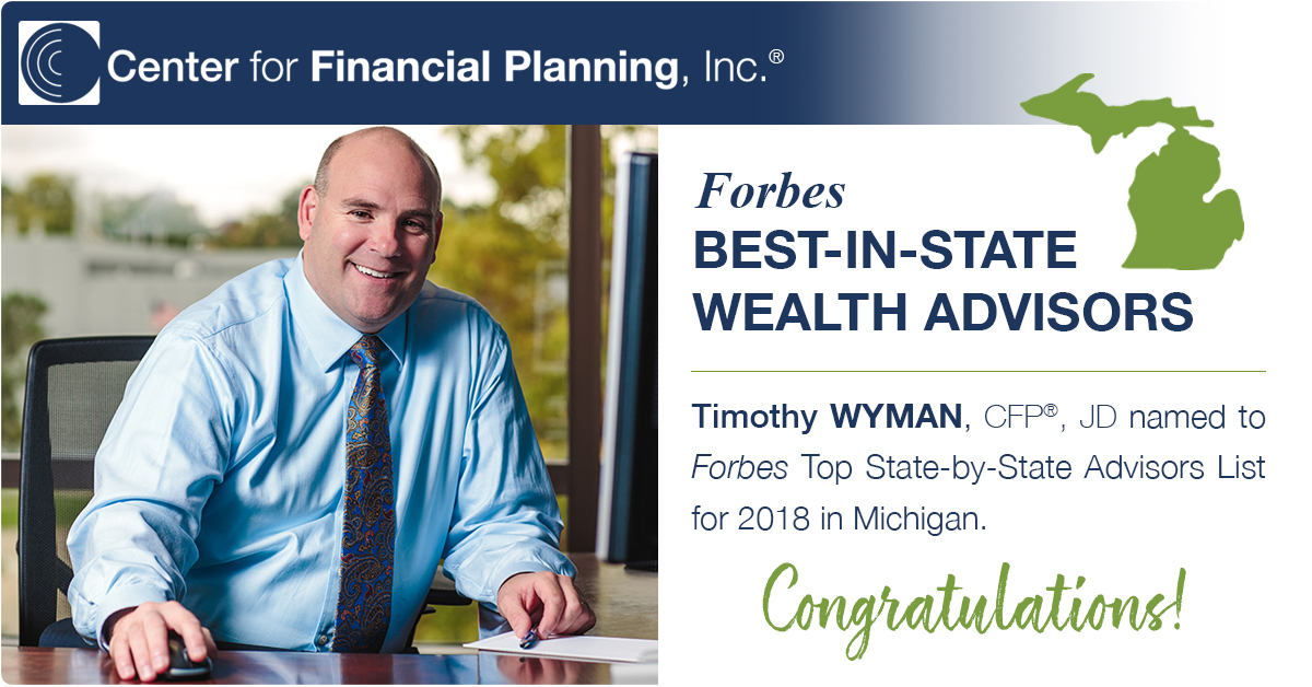 Timothy Wyman Forbes Best-in-State Wealth Advisors Michigan